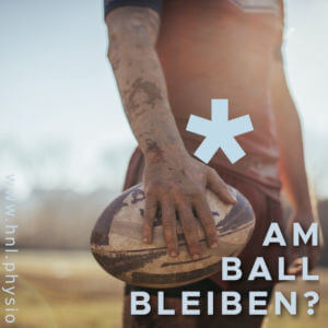 Athlete with rugby ball